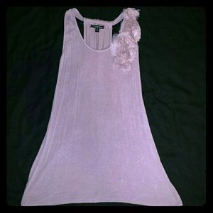 Pink tunic top with embellishment on front